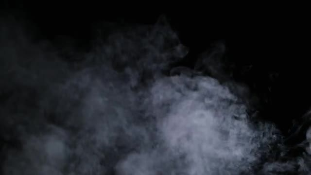 Vapor Smoke On Black Background: Stock Video