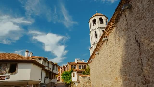 Walking The Streets Of Plovdiv: Stock Video