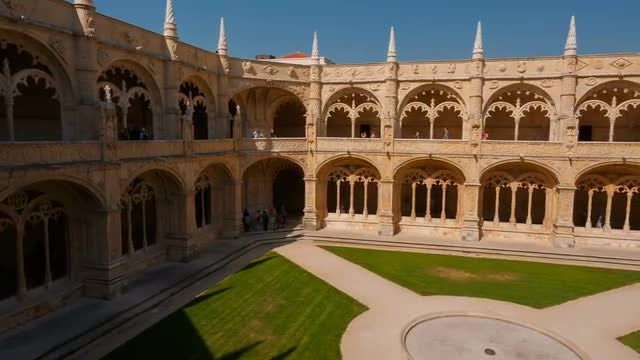 Hieronymites Monastery In Lisbon, Portugal: Stock Video