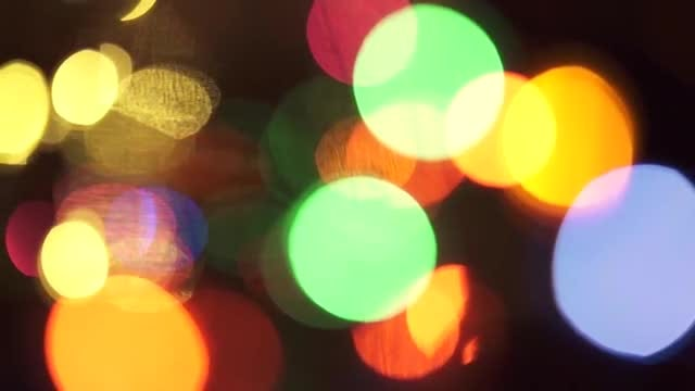 Panning Shot Of Bokeh Lights: Stock Video