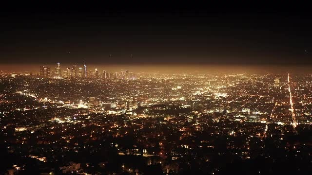 Los Angeles City At Night: Stock Video