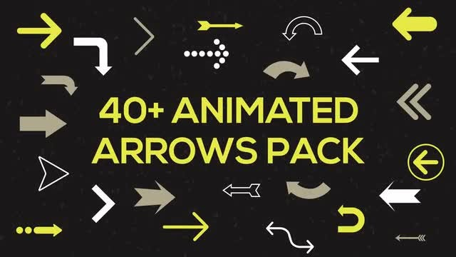 40+ Animated Arrows Pack: Stock Motion Graphics