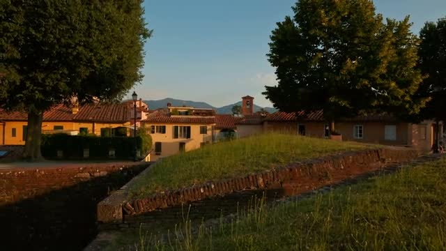 Tuscan Countryside In Lucca: Stock Video
