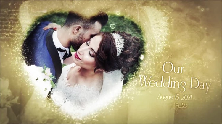 Wedding Slideshow Gallery Intro: After Effects Templates