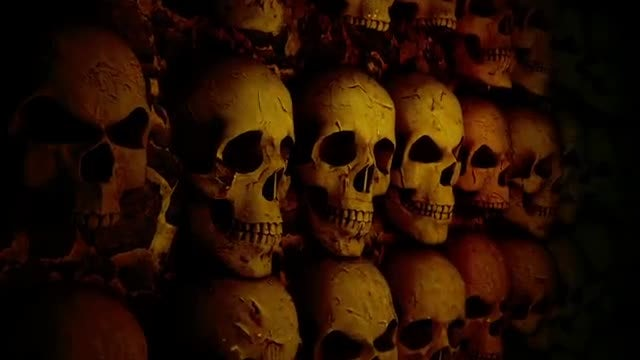 Stone Wall With Skulls: Stock Motion Graphics