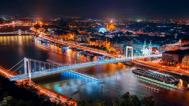 Aerial Time-lapse View Of Budapest: Stock Video