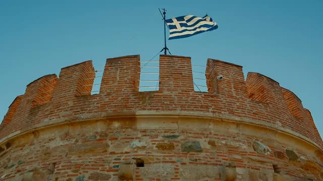 Low-angle Shot Of White Tower: Stock Video