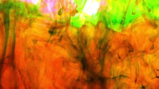 Orange-Green Abstract Water Texture: Stock Video