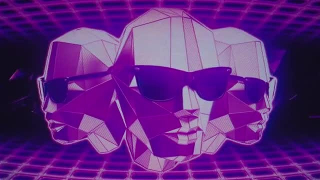 Retro Futuristic Heads VJ Loop: Stock Motion Graphics