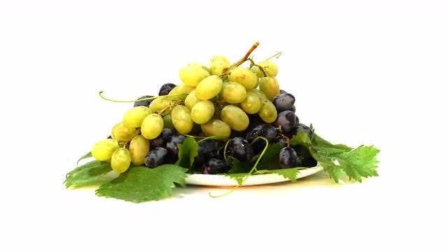 Black And White Grapes: Stock Video