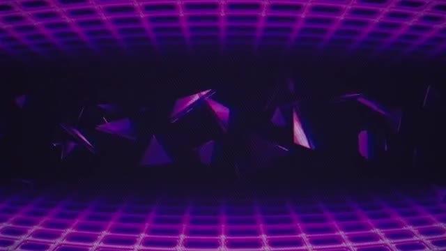 Retro Wave VJ Loop: Stock Motion Graphics
