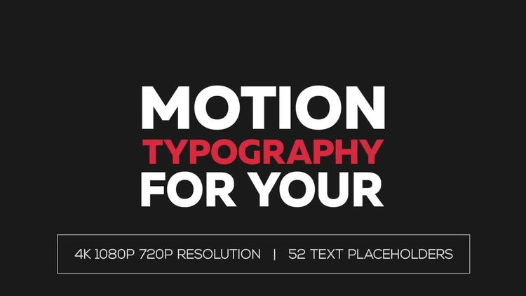 Dynamic Motion Typography: After Effects Templates