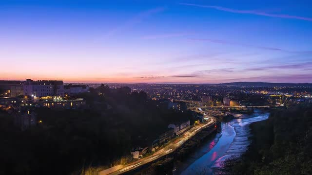Bristol City Sunrise: Stock Video