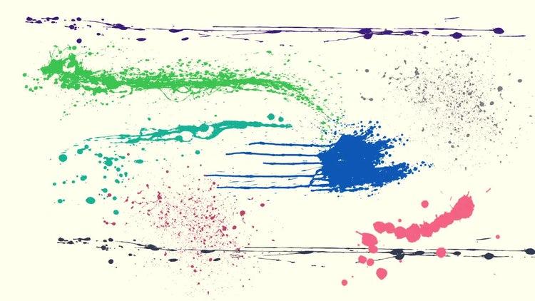 Paint Splatters: Stock Motion Graphics