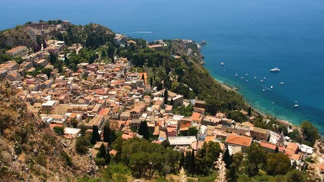 High-angle Shot Of Taormina: Stock Video