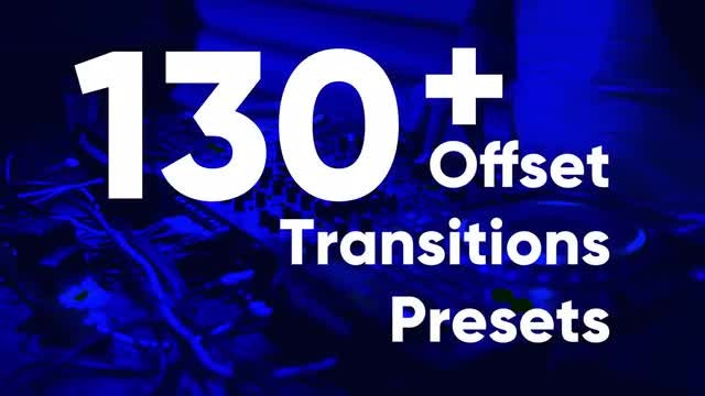 Offset Transition Presets: Premiere Pro Presets