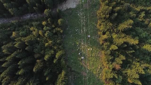 Cable Cars Top View 4K: Stock Video