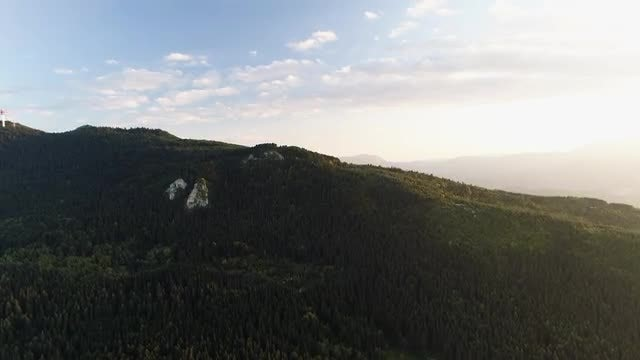 Aerial Shot Of Mountainous Landscape: Stock Video
