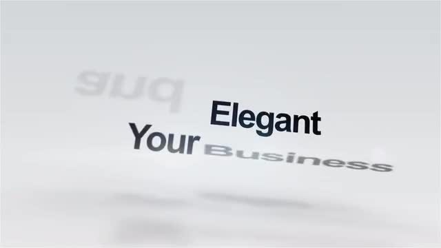 Clean Fly In Words Logo Reveal: After Effects Templates