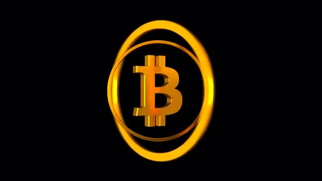 Bitcoin Logo With Two Loops: Stock Motion Graphics