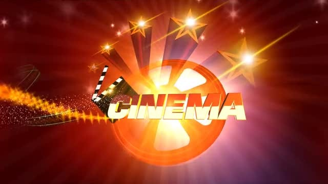 Cinema Background Reel And Stars: Stock Motion Graphics