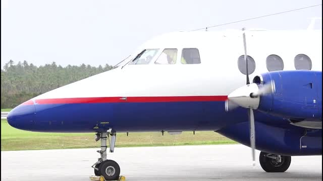 Airplane Starting Up On Runway: Stock Video