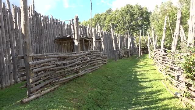 Historical Wooden Garrison: Stock Video