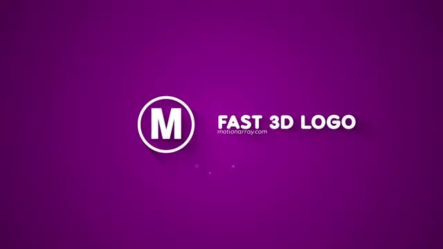 Fast 3D Logo: After Effects Templates