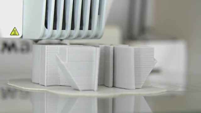 Close-up Shot Of 3D Printer: Stock Video