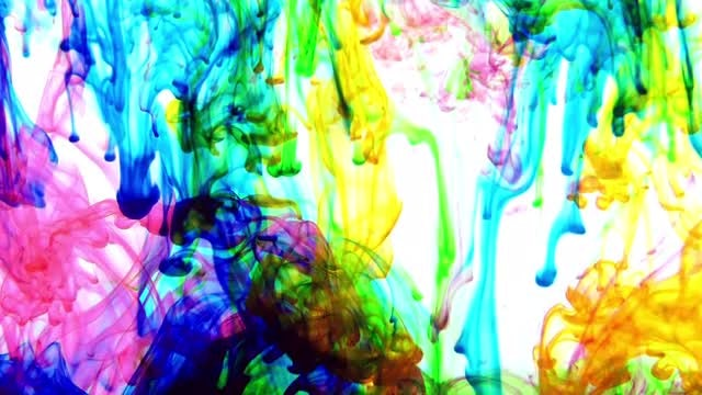 Colorful Streams Of Ink Swirling: Stock Video