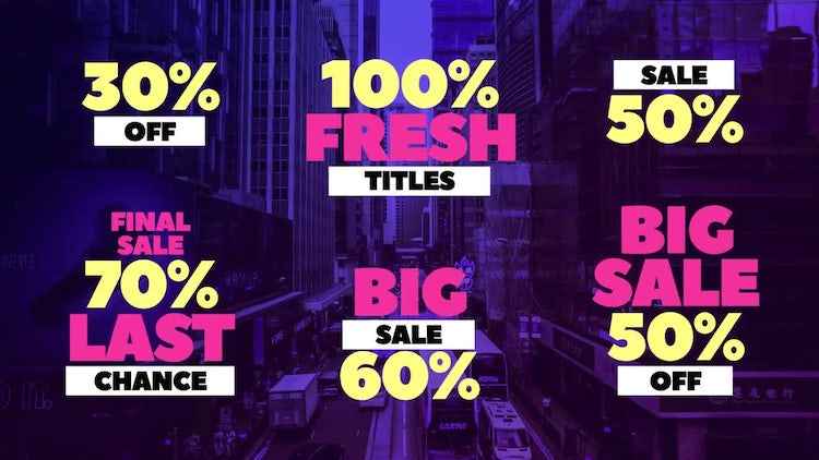 Sale Titles: After Effects Templates