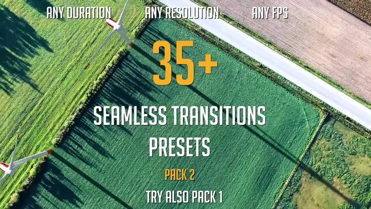 35+ Seamless Transitions Presets (pack 2): Premiere Pro Presets
