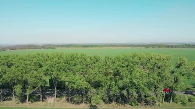 Aerial View Of Farmland: Stock Video