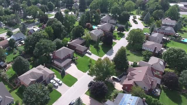 Pleasant Suburbs With Manicured Lawns: Stock Video