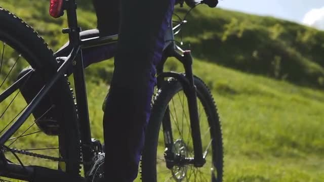 Cycling Down A Mountain Slope: Stock Video