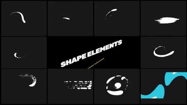 2D Swirl Shape Elements Pack: Stock Motion Graphics