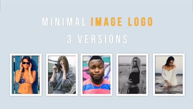 Minimal image logo: After Effects Templates