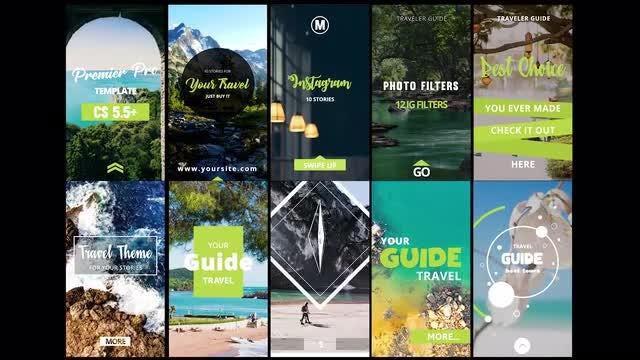 Instagram Stories Travels: Premiere Pro Templates