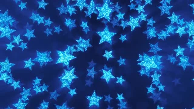 VJ Blue Shining Stars 2: Stock Motion Graphics