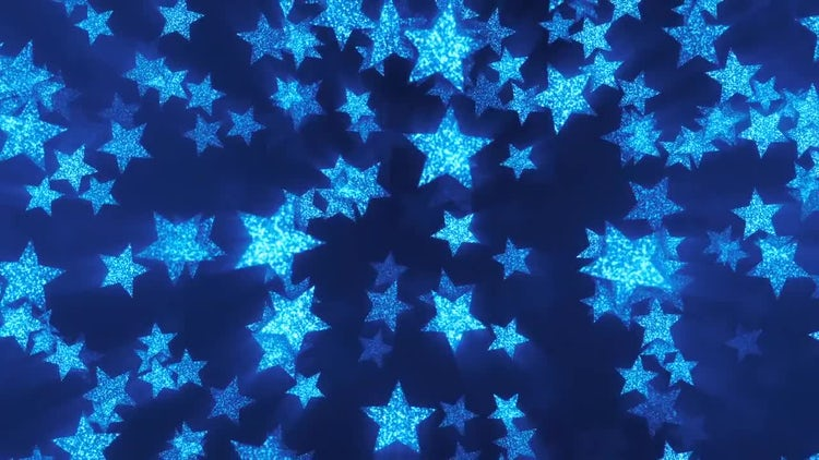 VJ Blue Shining Stars 2: Stock Motion Graphics