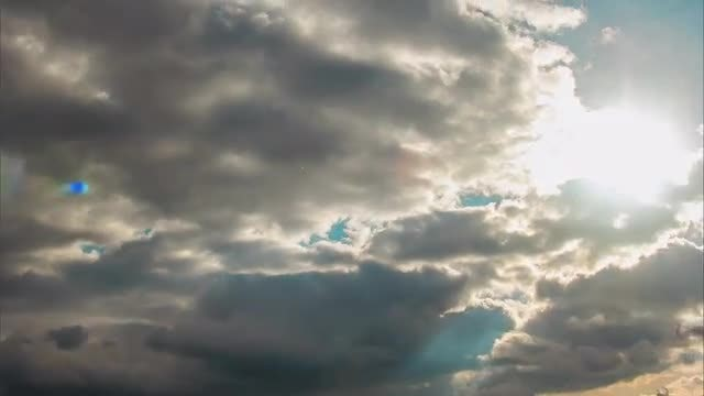 Time Lapse Of Storm Clouds: Stock Video