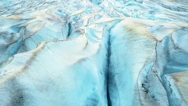 Aerial Shot Of Alaska Glaciers: Stock Video