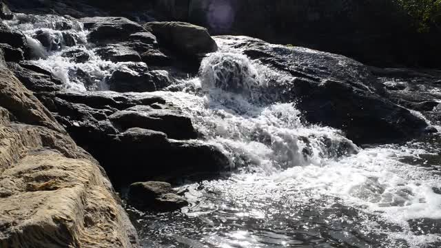 Close-up Shot Of Rocky River: Stock Video