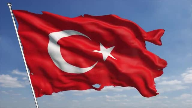 4K Turkey Flag : Stock Motion Graphics