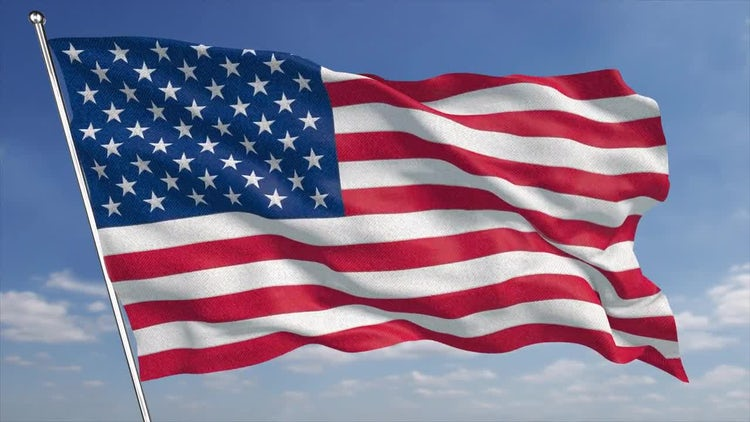 4K USA Flag: Motion Graphics