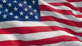 4K USA Flag Close: Motion Graphics