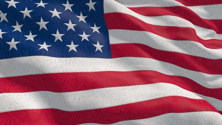 4K USA Flag Close: Stock Motion Graphics