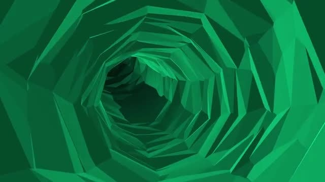 Green Poly Tunnel: Stock Motion Graphics