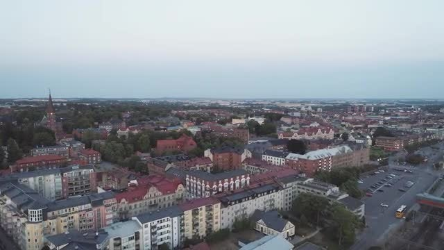 Lund, Sweden Aerial: Stock Video