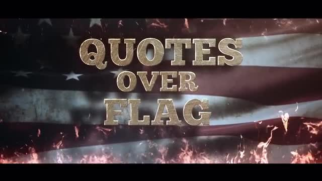 Quotes Over Flag: After Effects Templates